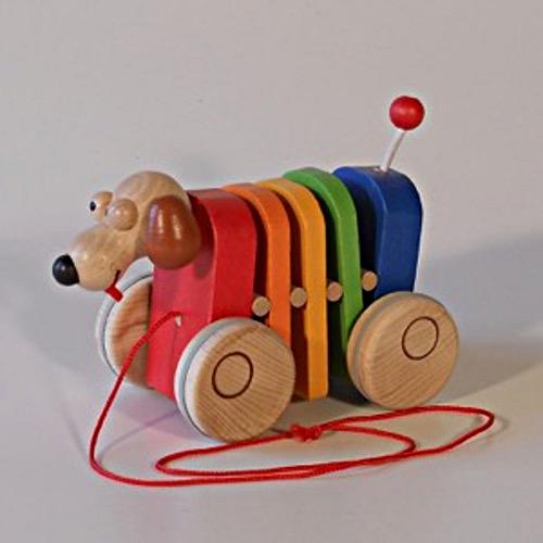 Klapací hračka Pejsek duhový