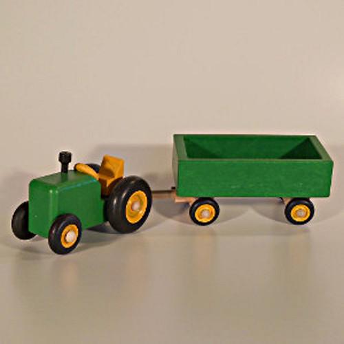 Traktor s valníkem - zelený