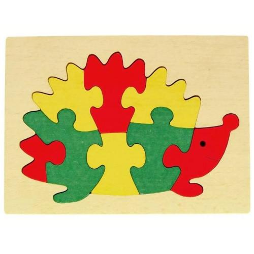 Puzzle Ježek v rámečku