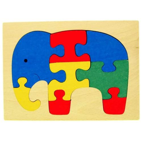 Puzzle Slon v rámečku