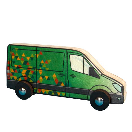 Veselá dodávka zelená