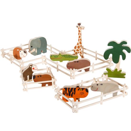 Zoo - dřevěná zvířátka