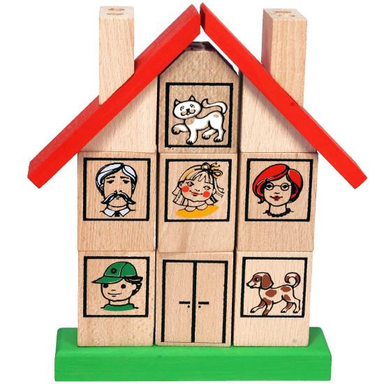 Vkládací puzzle domeček