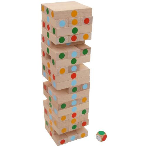 Jenga věž barevná